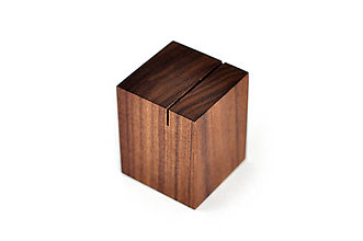 Nádoby - WALNUT OBJECT /soľnička z orechového dreva/ (Kolmý zárez) - 8755144_