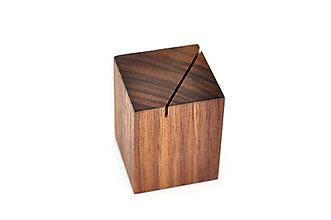 Nádoby - WALNUT OBJECT /soľnička z orechového dreva/ (Šikmý zárez) - 8755150_