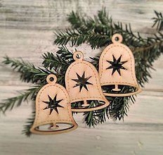 Dekorácie - Vianočné ozdoby Zvonček - 8750961_