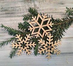 Dekorácie - Vianočné ozdoby Vločky - 8751442_
