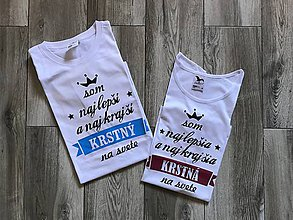 Tričká - Tričká pre krstných rodičov - sada tričiek - 8753753_