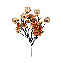 Polotovary - Guličky a vianočná ruža medená zápich - 8753546_