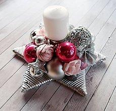 Dekorácie - Adventná hviezda - adventný veniec - 8751381_