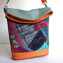 """Veľké tašky - Kabelka """"Tyrkyska inak"""" - 8753589_"""
