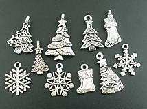 - Vianočné prívesky (balíček 10ks) - 8754588_