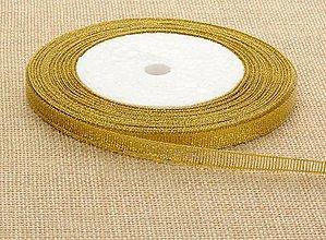 Galantéria - Zlatá stuha 6mm - 8754506_