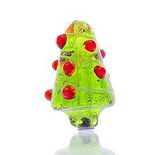 Korálky - Pandorková korálka sklenený vianočný stromček - 8754585_