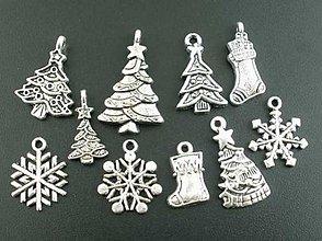 Komponenty - Vianočné prívesky (balíček 10ks) - 8754588_