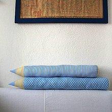 Úžitkový textil - Belasé ceruzky - 8752176_