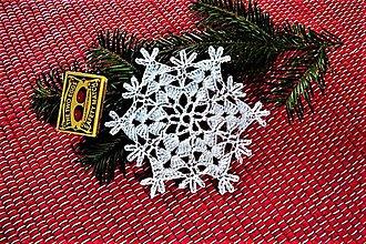 Dekorácie - Veľké háčkované vianočné hviezdy - 8751055_