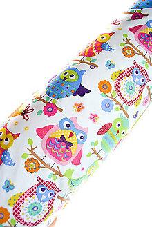 Úžitkový textil - HAJA & Farebné SoVKy z Francúzska Obojstranné... bočný vankúš... 170x35 cm - 8760085_