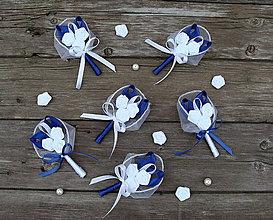 Pierka - Svadobné pierka pre rodičov a svedkov Modré blues - 8757145_
