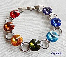 Náramky - Náramok - 7 čaker - Swarovski crystals - 8756113_