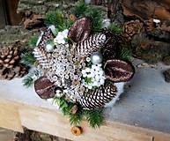 Dekorácie - Vianočná kytica + váza - 8759345_