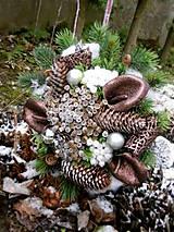 Dekorácie - Vianočná kytica + váza - 8759346_