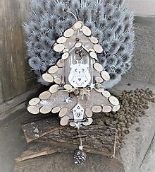 Dekorácie - Závesná dekorácia: Stromček natur s Rozárkou - 8758695_