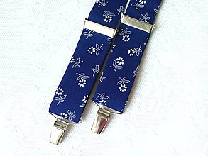 Doplnky - Suspenders (dark blue folklore) - 8756530_
