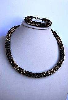 Sady šperkov - Čierna elegancia - 8758148_