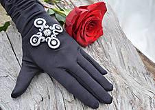 Rukavice - Dámské spoločenské rukavice Midnight Cross - 8755925_