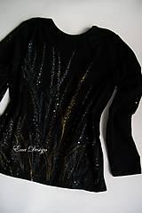 Tričká - Nočná krása - ručne maľované tričko - 8759172_