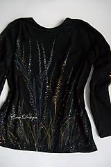 Tričká - Nočná krása - ručne maľované tričko - 8759173_
