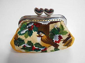 Peňaženky - Peňaženka s vtáčikom - 8759978_