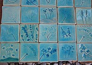 Dekorácie - obkladačky tyrkysové bylinkové výpredaj - 8759562_