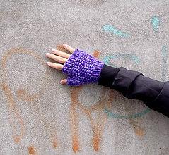 Rukavice - Hrejivé návleky violet - 8759419_