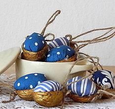 Dekorácie - Vianočná dekorácia / oriešky (Modré vianoce) - 8755659_