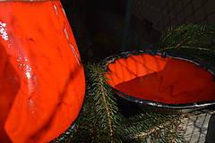 Nádoby - Váza a miska oranžovozlaté - SET - 8755703_