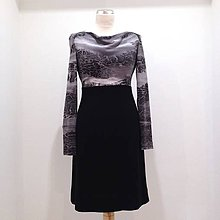 Šaty - Vlnené šaty šedo/čierne - 8755889_
