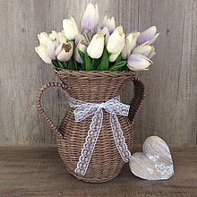 Dekorácie - Pletená váza - 8755661_
