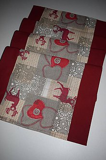 Úžitkový textil - VÁNOČNÍ BĚHOUN ...40 X 134 CM - 8757900_