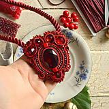 Náhrdelníky - Ruby red - sutaškový náhrdelník - 8758968_