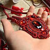 Náhrdelníky - Ruby red - sutaškový náhrdelník - 8758969_
