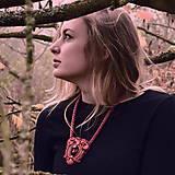 Náhrdelníky - Ruby red - sutaškový náhrdelník - 8758970_