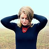 Náhrdelníky - Ruby red - sutaškový náhrdelník - 8758971_