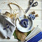 Náhrdelníky - Blue Sapphire - sutaškový náhrdelník - 8758988_