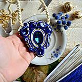 Náhrdelníky - Blue Sapphire - sutaškový náhrdelník - 8758989_