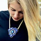 Náhrdelníky - Blue Sapphire - sutaškový náhrdelník - 8759015_