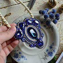 Náhrdelníky - Blue Sapphire - sutaškový náhrdelník - 8758987_