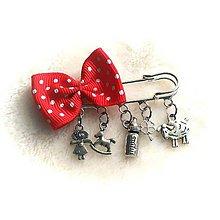Detské doplnky - Brošnička na kočík (Dievčenská: dievčatko, koník, fľaška, štvorlístok, ovečka) - 8757170_