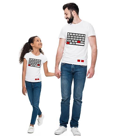 Rodinné tričko  CTRL C a CTRL V