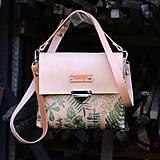 - Eva green flowers (kožená kabelka - ručne maľovaná) - 8757632_