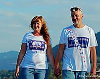Tričká - Dámske a pánske tričká, párové, maľované, folk SPIEVANKY - 8756122_