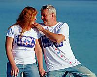 Tričká - Dámske a pánske tričká, párové, maľované, folk SPIEVANKY - 8756127_