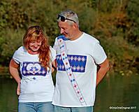 Tričká - Dámske a pánske tričká, párové, maľované, folk SPIEVANKY - 8756128_