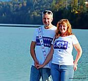 Tričká - Dámske a pánske tričká, párové, maľované, folk SPIEVANKY - 8756141_
