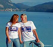 Tričká - Dámske a pánske tričká, párové, maľované, folk SPIEVANKY - 8756156_