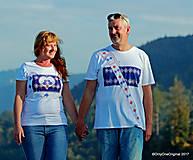 Tričká - Dámske a pánske tričká, párové, maľované, folk SPIEVANKY - 8756160_
